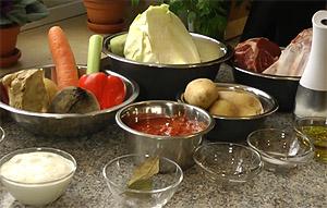 Ингредиенты для приготовления вкусного домашнего борща (фото)