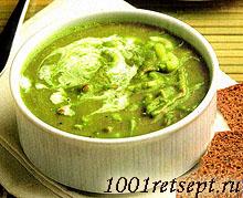 Суп с горошком, макаронами и ветчиной. Фото.