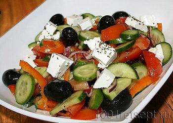 овощной салат с оливками рецепт