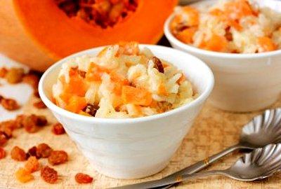 как приготовить кашу из тыквы и риса